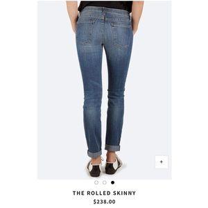 "Current/Elliott Jeans - Current/Elliott ""The Rolled Skinny"" - J0200"